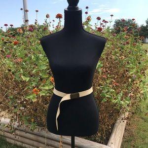Accessories - Cream colored canvas belt